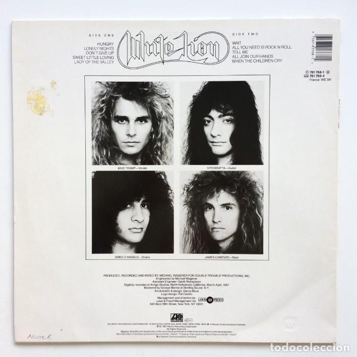 Discos de vinilo: White Lion – Pride Germany,1987 Atlantic - Foto 2 - 260114720