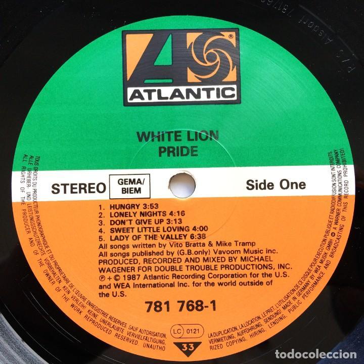 Discos de vinilo: White Lion – Pride Germany,1987 Atlantic - Foto 3 - 260114720