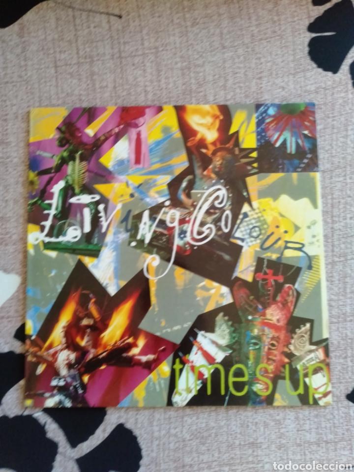 """LIVING COLOUR """" TIMES UP """". EDICIÓN ESPAÑOLA. 1990. CBS RECORDS. (Música - Discos - LP Vinilo - Pop - Rock Internacional de los 90 a la actualidad)"""