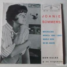 Discos de vinilo: JOANIE SOMMERS - EP SPAIN PS - EX+ MUCHACHO / NUNCA SERE LIBRE / HAZLO BIEN / SE MI AMOR. Lote 260311350