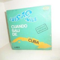 Dischi in vinile: LUIS AGUILE - CUANDO SALI DE CUBA - SINGLE - DISPONGO DE MAS DISCOS DE VINILO. Lote 260311480