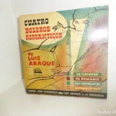 Discos de vinilo: JOSE GUARDIOLA Y LUIS ARAQUE CON SU ORQUESTA - CUATRO BOLEROS - DISPONGO DE MAS DISCOS DE VINILO. Lote 260312700