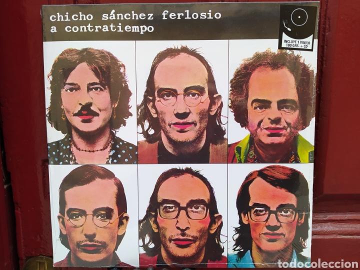 CHICHO SÁNCHEZ FERLOSIO–A CONTRATIEMPO. LP VINILO PRECINTADO (Música - Discos - LP Vinilo - Cantautores Españoles)