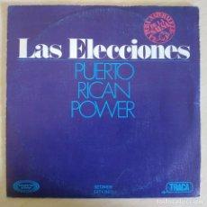 Discos de vinilo: PUERTO RICAN POWER - LAS ELECCIONES / QUISIERA - RARO SINGLE SPAIN DE 1977 - SALSA - VINILO NUEVO. Lote 260352355