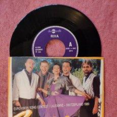 """Discos de vinilo: 7"""" RIVA - ROCK ME / - DSG - 645 - SINGLE PORTUGAL PRESS (EX+/EX+) EUROVISION 1989. Lote 260372725"""