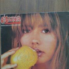 """Discos de vinilo: SAXON """" INNOCENCE IS NO EXCUSE """". EDICIÓN ESPAÑOLA. 1985. EMI RECORDS.. Lote 260384885"""