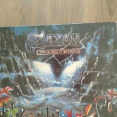 """Discos de vinilo: SAXON """" ROCK THE NATIONS """". EDICIÓN ESPAÑOLA. 1986. EMI RECORDS.. Lote 260385720"""