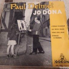 Discos de vinilo: PAUL DELMET PAR JO DONA. L' ÉTOILE D'AMOUR. EP VINILO.. Lote 260407610