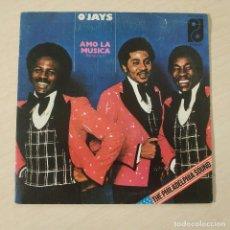 Discos de vinilo: O'JAYS – AMO LA MUSICA (PARTES 1 Y 2) - PHILADELPHIA INTERNATIONAL RECORDS 1975 - SINGLE COMO NUEVO. Lote 260420570