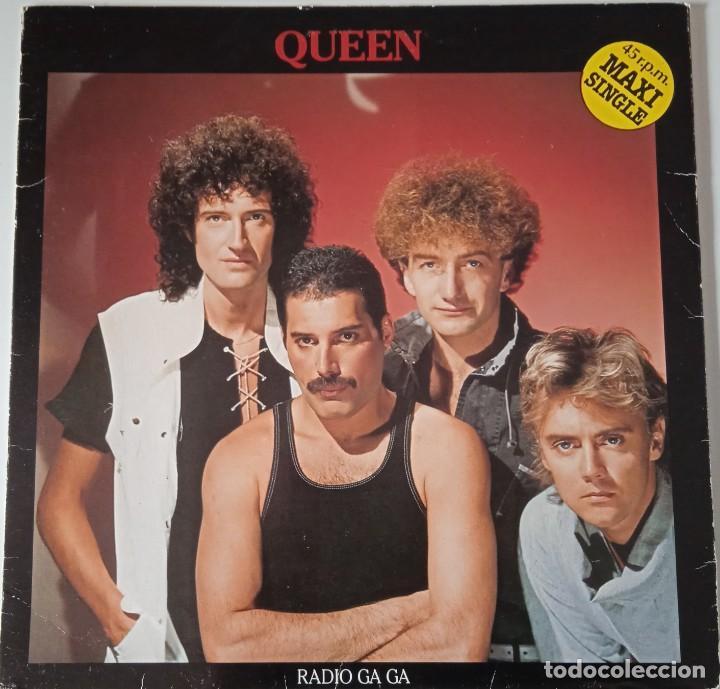 QUEEN...RADIO GA GA . (EMI 1984) SPAIN (Música - Discos de Vinilo - Maxi Singles - Pop - Rock Internacional de los 70)