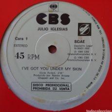 Discos de vinilo: JULIO IGLESIAS MAXI-SINGLE PROMOCIÓNAL SELLO CBS EDITADO EN ESPAÑA AÑO 1985.... Lote 260429235