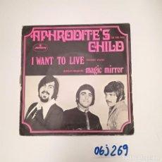 Discos de vinilo: I WANT TO LIVE. Lote 260435180