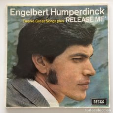 Disques de vinyle: ENGELBERT HUMPERDINCK – RELEASE ME UK,1967 DECCA. Lote 260475170