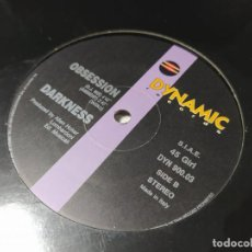 Dischi in vinile: MAXI - DARKNESS – OBSESSION - DYN 900.03 (VG+ / VG+) ITALY ?. Lote 260489440