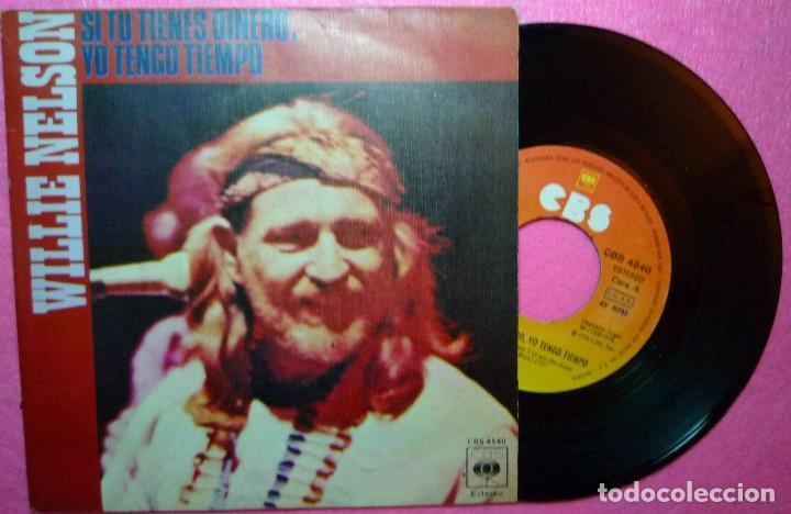"7"" WILLIE NELSON - IF YOU'VE GOT THE MONEY - CBS 4540 - SINGLE SPAIN PRESS - 1976 (EX-/VG++) (Música - Discos - Singles Vinilo - Étnicas y Músicas del Mundo)"