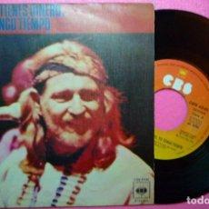 """Discos de vinilo: 7"""" WILLIE NELSON - IF YOU'VE GOT THE MONEY - CBS 4540 - SINGLE SPAIN PRESS - 1976 (EX-/VG++). Lote 260502160"""