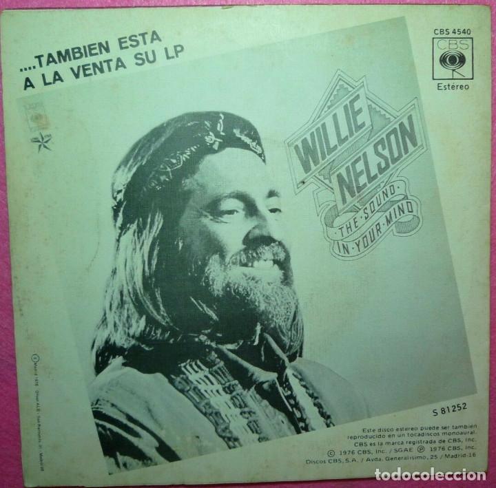 """Discos de vinilo: 7"""" WILLIE NELSON - If Youve Got The Money - CBS 4540 - SINGLE SPAIN press - 1976 (EX-/VG++) - Foto 2 - 260502160"""