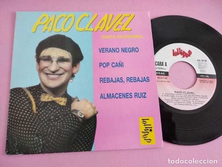 PACO CLAVEL VERANO NEGRO / POP CAÑI / REBAJAS REBAJAS / ALMACENES RUIZ EP VINILO SINGLE JOE BORSANI (Música - Discos de Vinilo - EPs - Solistas Españoles de los 70 a la actualidad)