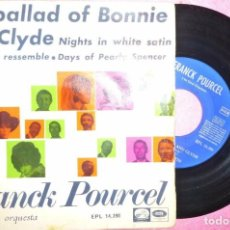 "Discos de vinilo: 7"" FRANCK POURCEL - THE BALLAD OF BONNIE AND CLYDE - LVDSA EPL 14398 - EP SPAIN (VG++/EX-). Lote 260507790"