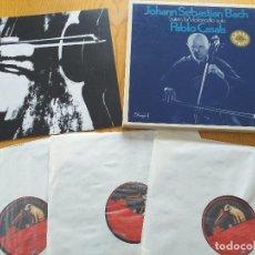 Discos de vinilo: PABLO CASALS - BACH - SUITEN FUR VIOLONCELLO SOLO - SET BOX 3 LP.- EMI 10 0892 3- GERMANY. Lote 260510350