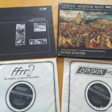Discos de vinilo: DVORAK - REQUIEM MASS, OP.89 -LONDON RECORDS (DECCA) OSA 1281 STEREO- ISTVAN KERTESZ- USA. Lote 260515545