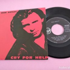 Disques de vinyle: RICK ASTLEY-CRY FOR HELP + BEHIND THE SMILE SINGLE VINILO 1990 SPAIN. Lote 260515830