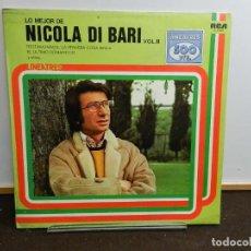 Discos de vinilo: DISCO VINILO LP. NICOLA DI BARI – LO MEJOR DE NICOLA DI BARI. VOL. II. 33 RPM.. Lote 260516780