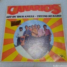 Discos de vinil: CANARIOS - GET ON YOUR KNEES. Lote 260538305