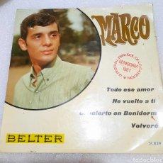 Disques de vinyle: MARCO - TODO ESE AMOR + 3. Lote 260539285