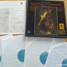 Discos de vinilo: NIKOLAUS HARNONCOURT - MATTHAUS-PASSION- J.S. BACH- SET BOX 4 LP.- TELEFUNKEN 1982. Lote 260545130