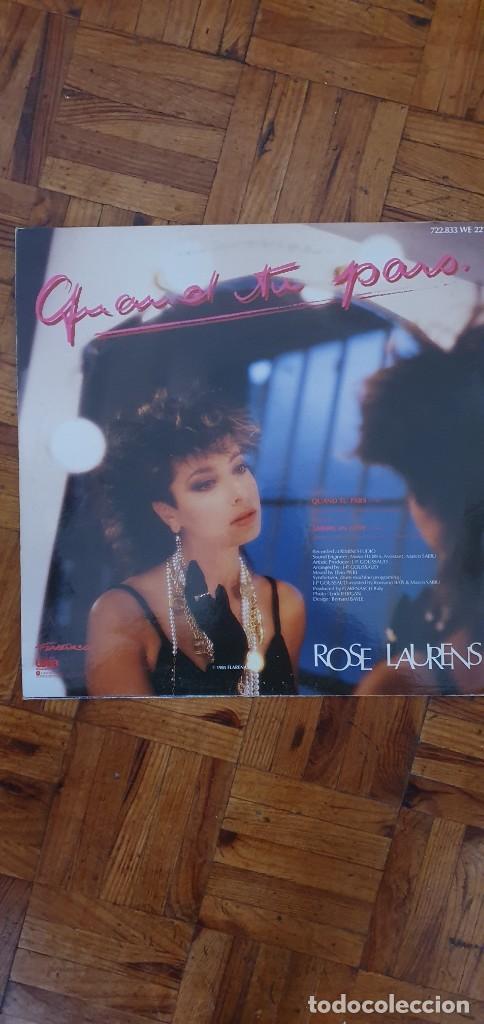 Discos de vinilo: Rose Laurens – Quand Tu Pars (Remix) / American Love Label: Flarenasch – 722.833 Format: Vinyl, 12 - Foto 2 - 260546345