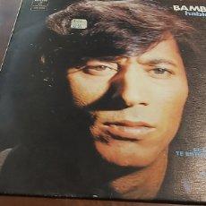 Discos de vinilo: BAMBINO – HABLEMOS DEL AMOR.. LP DE 1973 - COLUMBIA. INCLUYE VERSION DE ALGO DE MI DE CAMILO SESTO. Lote 260547375