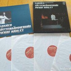 Discos de vinilo: PIERRE BOULEZ- WAGNER- GOTTERDAMMERUNG- BAYREUTHER FESTSPIELE - SET BOX 5 LP.- PHILIPS 1981 HOLLAND. Lote 260551710