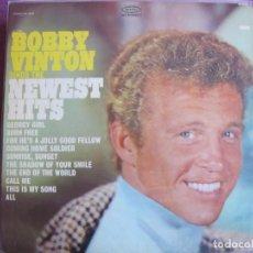 Discos de vinil: LP - BOBBY VINTON - SINGS THE NEWEST HITS (USA, EPIC RECORDS SIN FECHA). Lote 260569350