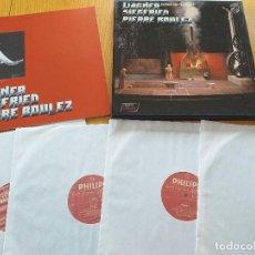 Discos de vinilo: PIERRE BOULEZ- WAGNER- SIEGFRIED- BAYREUTHER FESTSPIELE - SET BOX 4 LP.- PHILIPS 1981 HOLLAND. Lote 260571320