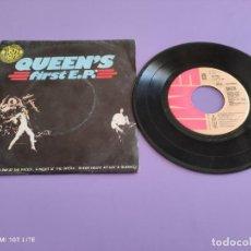 Discos de vinilo: JOYA MUY DIFICIL EP QUEEN. FIRST. E,P. TEMAS DE 4 LPS. FREDDIE MERCURY. PORTUGAL. EMI 8E 016 99082. Lote 260573995