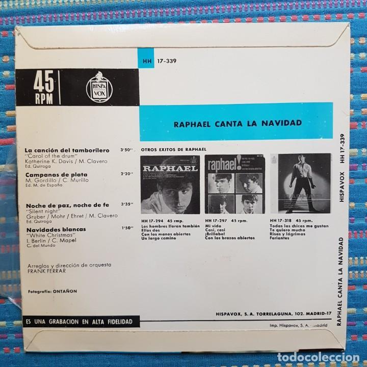 Discos de vinilo: RAPHAEL CANTA A LA NAVIDAD. LA CANCIÓN DEL TAMBORILERO - Foto 2 - 260574740