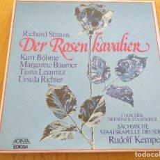 Discos de vinilo: RICHARD STRAUSS - DER ROSEN KAVALIER- RUDOLF KEMPE - EDIGSA 1982- SET BOX 4 LP.. Lote 260574770