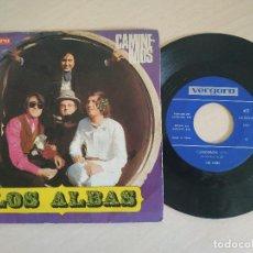 Discos de vinilo: LOS ALBAS - CAMINEMOS / LEJOS DE TI - 7'' SINGLE VERGARA DE 1970 - EN BUEN ESTADO. Lote 260575600