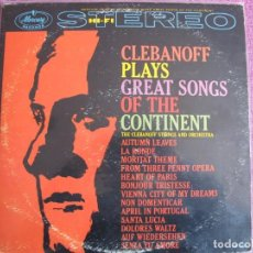 Disques de vinyle: LP - CLEBANOFF - PLAYS GREAT SONGS OF THE CONTINENT (USA, MERCURY RECORDS SIN FECHA). Lote 260579275