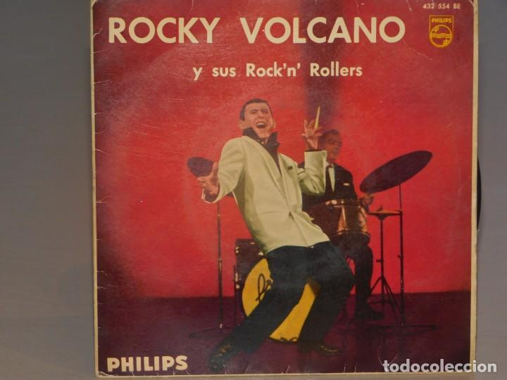 SINGLE ROCKY VOLCANO-IRÉ A CUALQUIER PARTE-24 MIL BESOS-COMO UN VOLCÁN-NADIE COMO TÚ. PHILIPS 1961 (Música - Discos - Singles Vinilo - Solistas Españoles de los 50 y 60)
