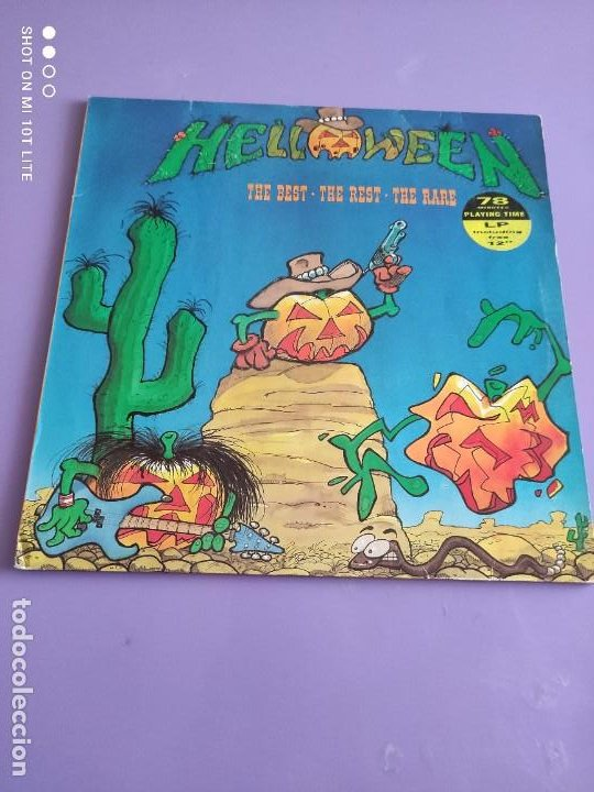 Discos de vinilo: MAXI HELLOWEEN. THE BEST. THE REST. THE RARE. HALLOWEEN 13:10. KEEPER OF THE SEVEN KEYS 13:30. - Foto 2 - 260602105