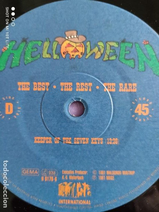Discos de vinilo: MAXI HELLOWEEN. THE BEST. THE REST. THE RARE. HALLOWEEN 13:10. KEEPER OF THE SEVEN KEYS 13:30. - Foto 10 - 260602105