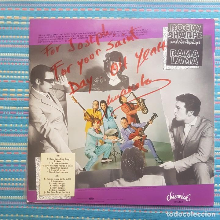 Discos de vinilo: DISCO LP ROCKY SHARPE AND THE REPLAYS - RAMA LAMA - DEDICADO - Foto 2 - 260608790