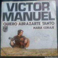 Discos de vinilo: VICTOR MANUEL. COMO ABRAZARTE TANTO.. Lote 260618740