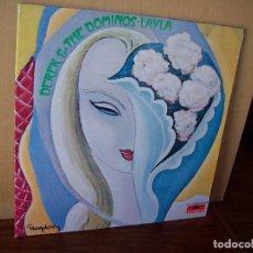 Discos de vinilo: DEREK & THE DOMINOS - LAYLA - DOBLE LP CARPETA ABIERTA FABRICADA EN ALEMANIA -LABEL EN. Lote 260677060