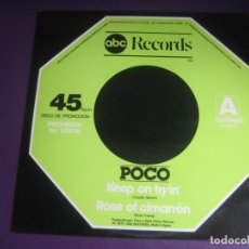 Discos de vinilo: POCO - KEEP ON TRYING + 2 - MAXI SINGLE ABC 1977 PROMO - COUNTRY ROCK 70'S - BUFFALO SPRINGFIELD. Lote 260678130