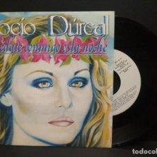 Discos de vinilo: ROCIO DURCAL SINGLE 1986 PROMO ETIQUETA BLANCA - QUEDATE CONMIGO - JUAN GABRIEL AROLA PEPETO. Lote 260678165