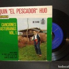 Discos de vinilo: EP QUIN ¨EL PESCADOR ¨ HIJO. CANCIONES ASTURIANAS VOL. 1. CARROS MATEROS. ASTURIAS PEPETO. Lote 260679110