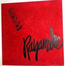 Discos de vinilo: RAIGAMBRE ESTUCHE ATERCIOPELADO CAJA 6 LPS VINILO LIBRO FOLK ARAGON JOTAS BANDAS. FOLKLORE AÑO 1987. Lote 260695685